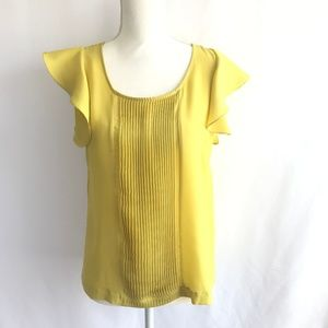 Collective Concepts Yellow Pleated Top